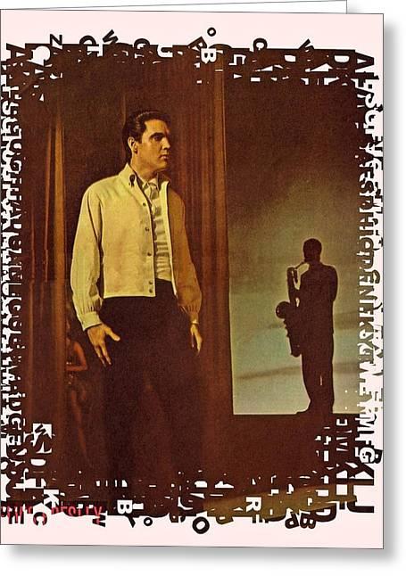 Elvis Presley Drawing Greeting Cards - Elvis Aaron Presley Greeting Card by Movie Poster Prints