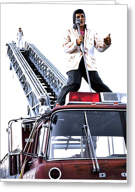 Pop Singer Greeting Cards - Elvis Aaron Presley Statues USA Greeting Card by Sally Rockefeller