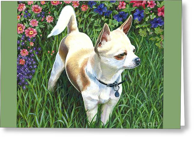 Toy Dogs Greeting Cards - Elvis Greeting Card by Catherine Garneau