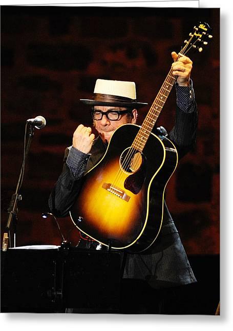 Costello Greeting Cards - Elvis Costello Greeting Card by Rafa Rivas