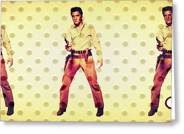 Lioness Greeting Cards - Elvis Elvis Elvis Greeting Card by Michelle Dallocchio