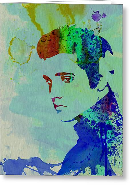 Presley Greeting Cards - Elvis Greeting Card by Naxart Studio