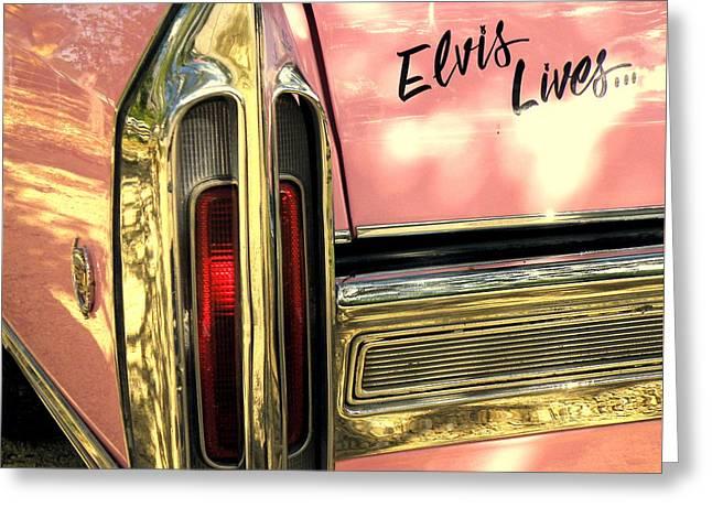 Elvis Lives Greeting Card by Joe Jake Pratt