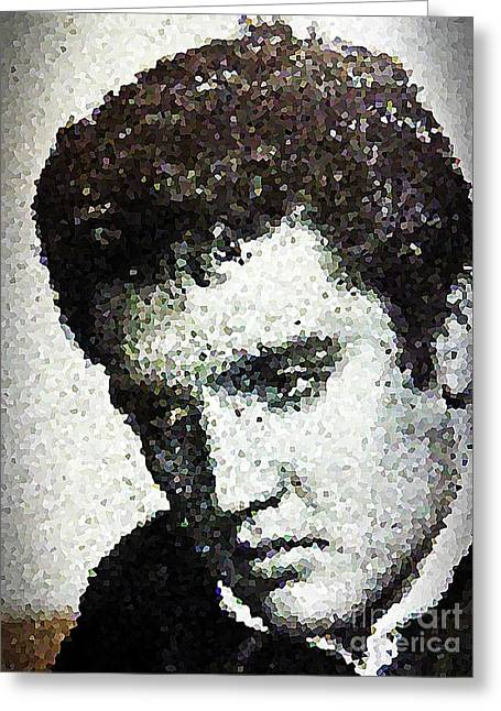 Hounddog Greeting Cards - Elvis Love Me Tender Mosaic Greeting Card by Saundra Myles