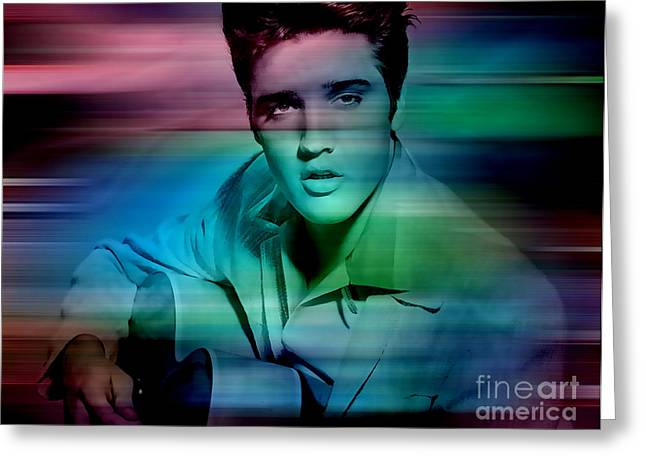 Image Greeting Cards - Elvis Greeting Card by Marvin Blaine