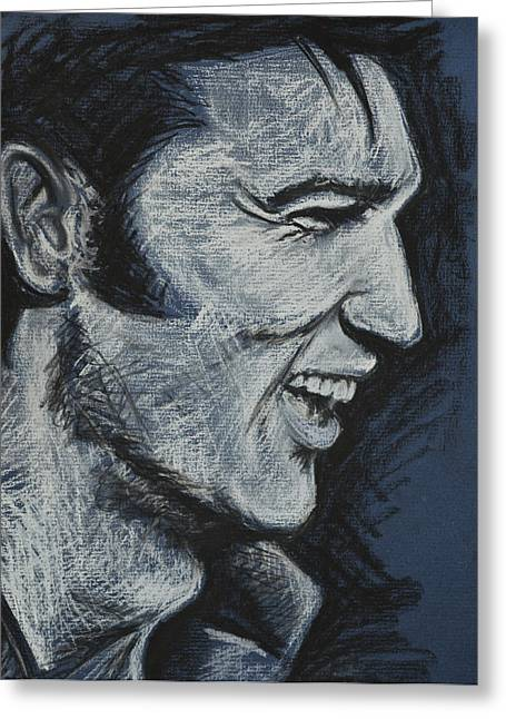 Elvis The King Greeting Cards - Elvis Greeting Card by Melissa O