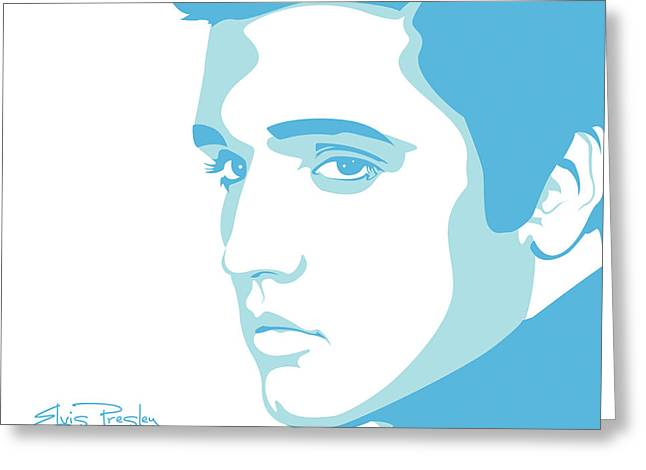 Rock Icon Greeting Cards - Elvis Greeting Card by Mike Maher