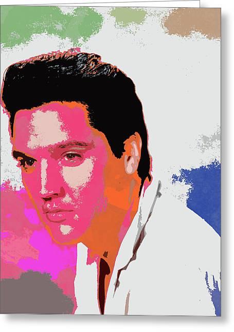 Heartbreak Hotel Greeting Cards - Elvis Presley - 2 Greeting Card by Chris Smith
