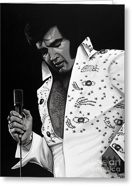 Love Me Tender Greeting Cards - Elvis Presley 2 Greeting Card by Meijering Manupix