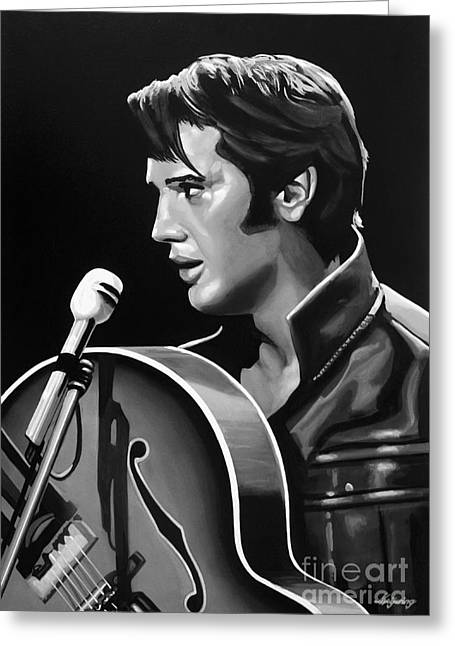 Love Me Tender Greeting Cards - Elvis Presley 3 Greeting Card by Meijering Manupix