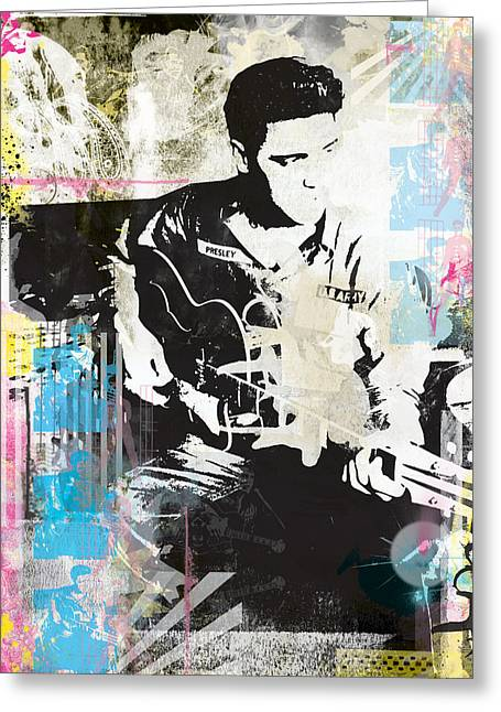 Elvis Presley The King Greeting Card by Armitage Modern