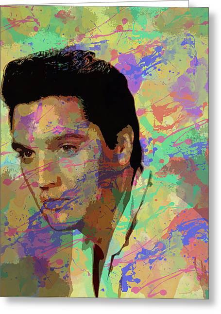 Elvis Presley Greeting Card by Chris Smith