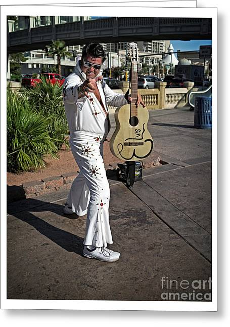 Acting Greeting Cards - Elvis Presley Greeting Card by Edward Fielding