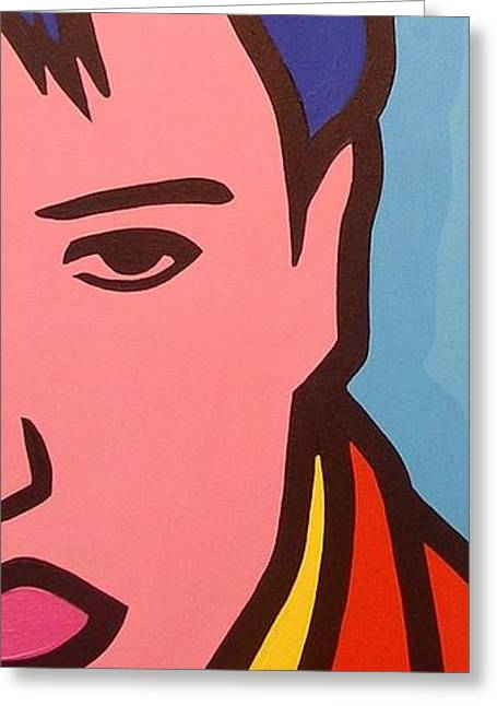 Elvis Presley Greeting Card by John  Nolan