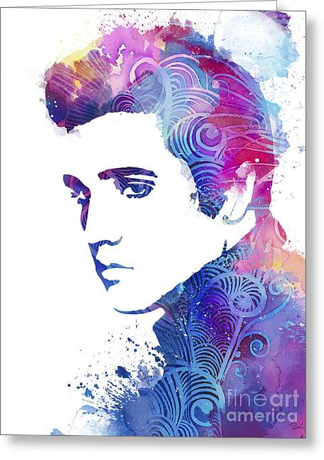 Elvis Presley Greeting Card by Luke and Slavi
