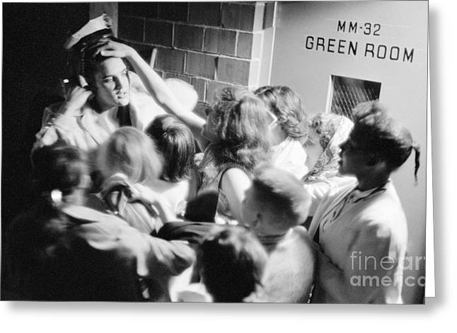 Many People Greeting Cards - Elvis Presley Mobbed by Adoring Fans 1956 Greeting Card by The Phillip Harrington Collection