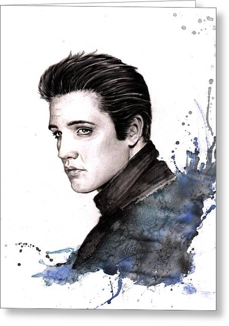 Sizes Pastels Greeting Cards - Elvis Presley.  Greeting Card by Ole Hedeager Mejlvang