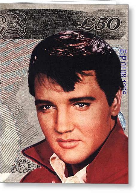 Elvis The King Greeting Cards - Elvis Presley Greeting Card by Unknown
