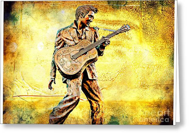 Las Cruces Digital Art Greeting Cards - Elvis Solid Gold In Memphis  Greeting Card by Barbara Chichester