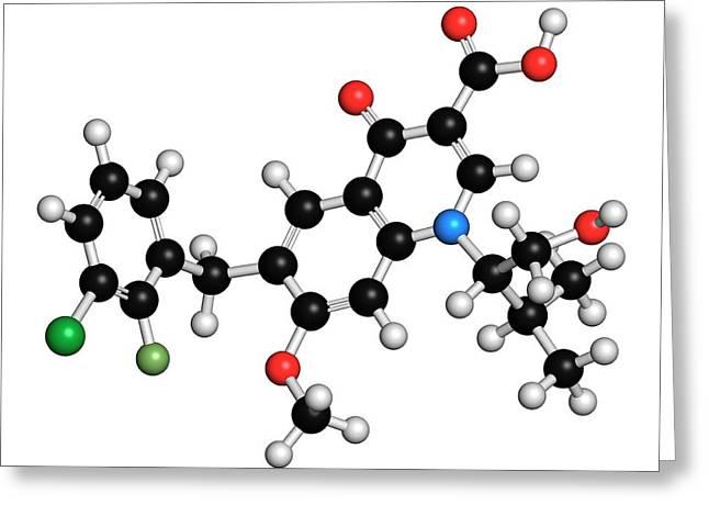 Elvitegravir Hiv Drug Molecule Greeting Card by Molekuul