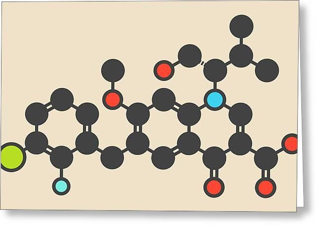 Elvitegravir Hiv Treatment Drug Molecule Greeting Card by Molekuul