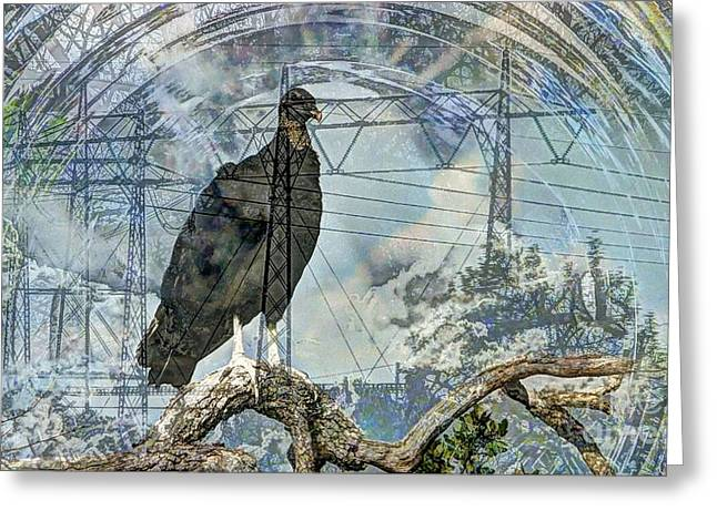 Masts Mixed Media Greeting Cards - Vulture Culture Greeting Card by Bebe
