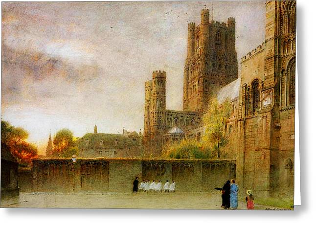 Bravery Greeting Cards - Ely Cathedral Greeting Card by Celestial Images