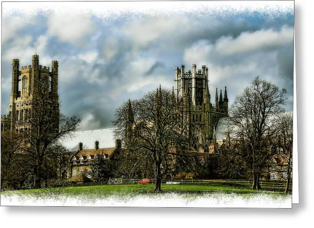 Ely Cathedral In Watercolors Greeting Card by Joanna Madloch