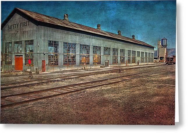 Schienen Greeting Cards - Ely Nevada trainstation Greeting Card by Gunter Nezhoda