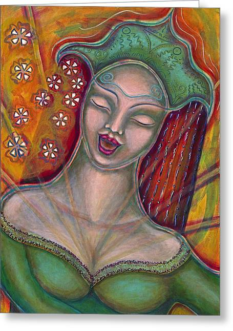 Visionary Artist Greeting Cards - Emanating Greeting Card by Annette Wagner