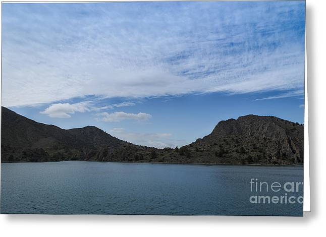Reflex Pyrography Greeting Cards - Embalse del Cenajo Greeting Card by Jorge Martinez