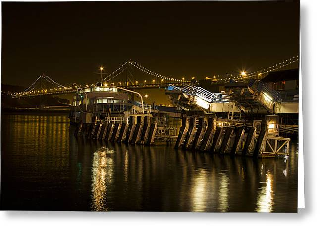 Home Greeting Cards - Embarcadero Boats Greeting Card by Bryant Coffey