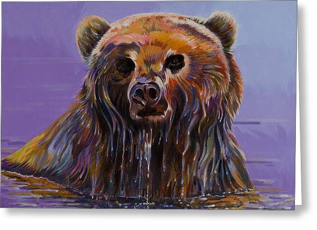 Abstracted Wildlife Art Greeting Cards - Embarrassed Greeting Card by Bob Coonts