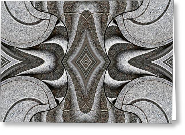 Floral Motif Greeting Cards - Embellishment in Concrete 2 Greeting Card by Sarah Loft