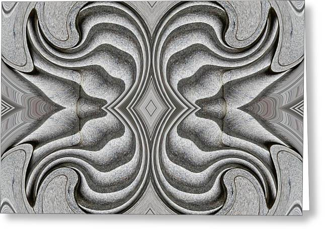 Floral Embellishment Greeting Cards - Embellishment in Concrete 3 Greeting Card by Sarah Loft