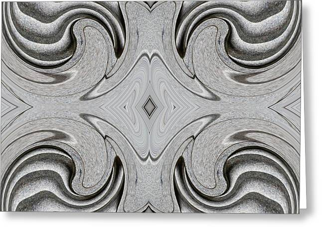 Floral Embellishment Greeting Cards - Embellishment in Concrete 6 Greeting Card by Sarah Loft