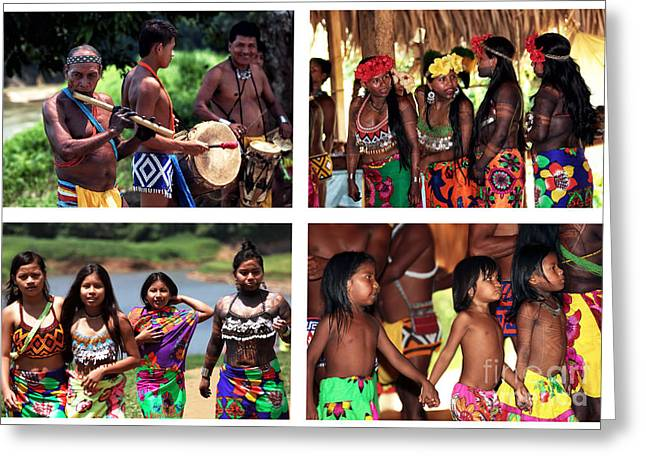 Old School Tattoos Greeting Cards - Embera Greeting Card by John Rizzuto