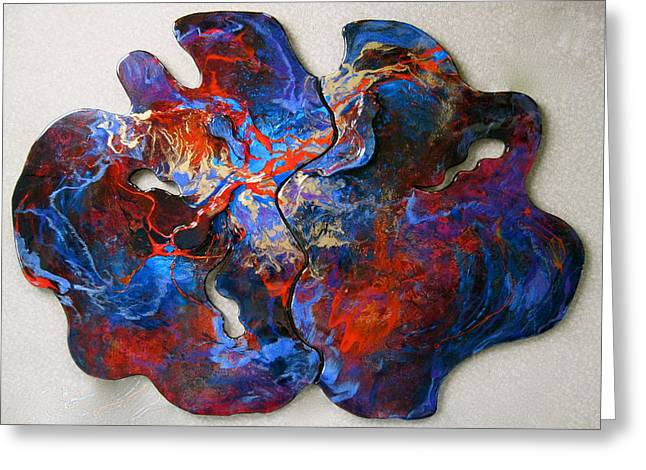 Freeform Greeting Cards - Embers Greeting Card by Bonny Roberts