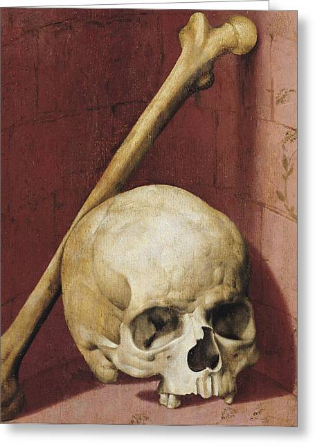 Creepy Paintings Greeting Cards - Emblems of Death Greeting Card by German School