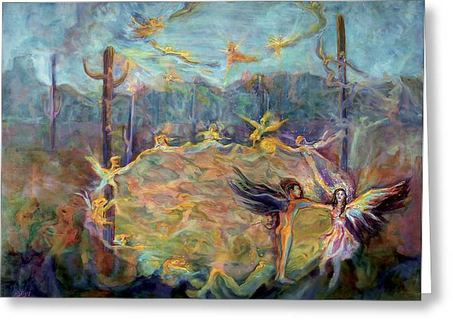 Embodiment Of Light Greeting Card by Shari Silvey