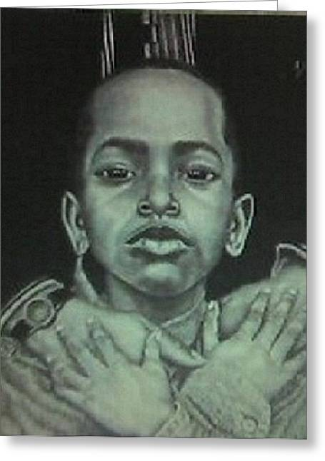 African-american Drawings Greeting Cards - Embrace Greeting Card by Arron Kirkwood