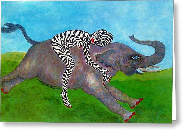 Bipolar Drawings Greeting Cards - Embrace The Beast Within Greeting Card by Suzanne Macdonald