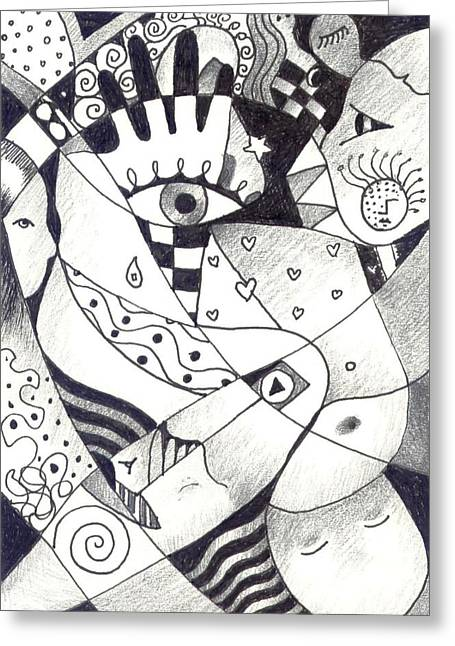 World In Your Hands Greeting Cards - Embracing Life Greeting Card by Helena Tiainen