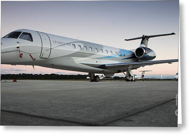 Private Jet Greeting Cards - Embraer Legacy 650 Executive Jet Greeting Card by Dustin K Ryan