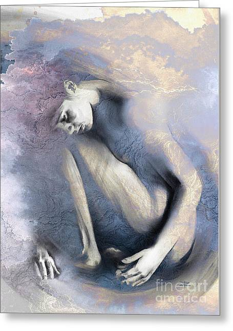 Nude Overlay Greeting Cards - Embryonic II with Mood Texture Greeting Card by Paul Davenport