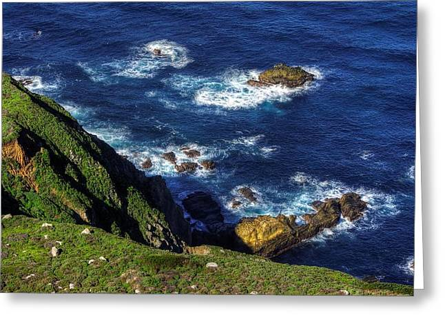 Big Sur Ca Greeting Cards - Emerald and Sapphire - Big Sur Central California Coast Spring Greeting Card by Michael Mazaika