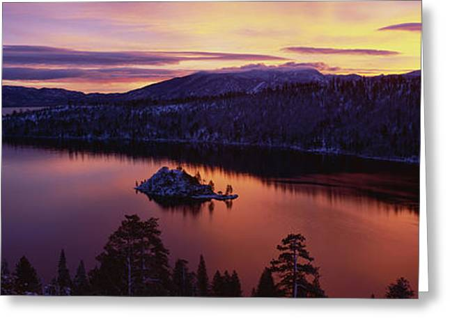 On Location Greeting Cards - Emerald Bay Lake Tahoe Ca Greeting Card by Panoramic Images