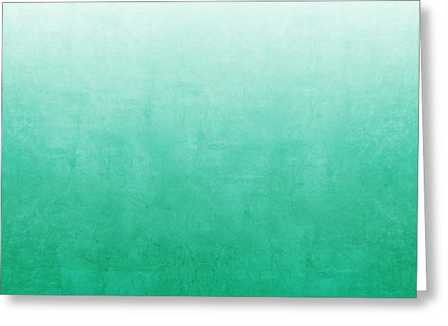 Abstract Greeting Cards - Emerald Bay Greeting Card by Linda Woods