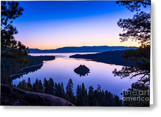 Sunset Bay State Park Greeting Cards - Emerald Bay Sunrise Greeting Card by Jamie Pham