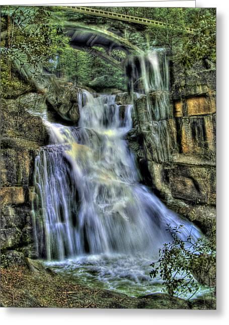 Emerald Cascade Greeting Card by Bill Gallagher